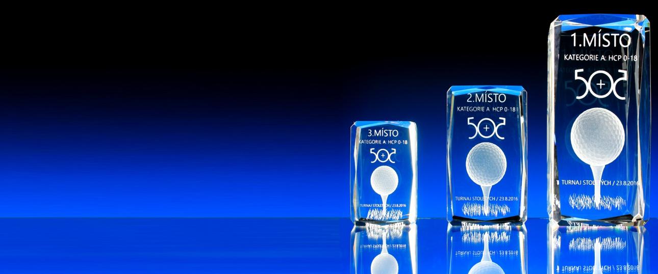 3D Laser skleněné trofeje