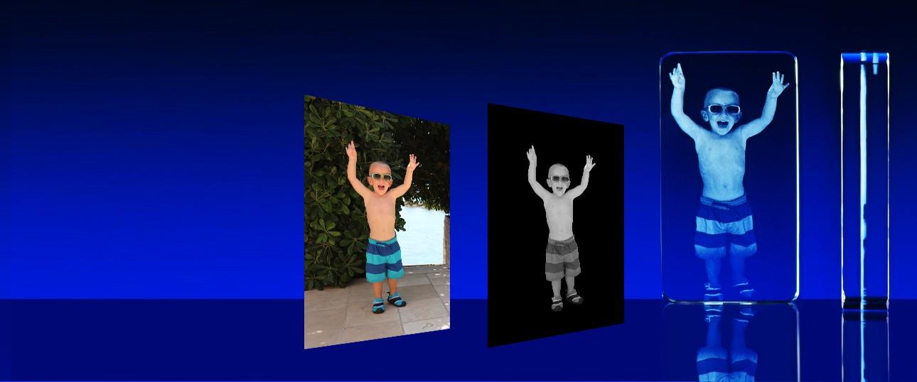 2D fotografie ve skle
